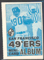 1969 Topps Football 4-1 Booklets 15 San Francisco 49ers Excellent to Mint