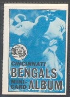 1969 Topps Football 4-1 Booklets 19 Cincinnati Bengals Excellent to Mint
