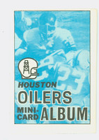 1969 Topps Football 4-1 Booklets 21 Houston Oilers Excellent to Mint