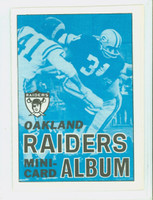 1969 Topps Football 4-1 Booklets 25 Oakland Raiders Excellent to Mint