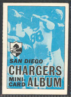 1969 Topps Football 4-1 Booklets 26 San Diego Chargers Excellent to Mint