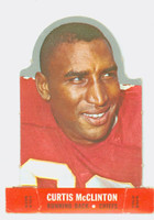 1968 Topps Football Stand Up 15 Curtis McClinton Kansas City Chiefs Punched