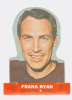 1968 Topps Football Stand Up 21 Frank Ryan Cleveland Browns Punched