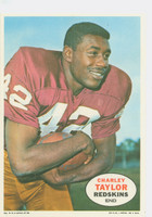 1968 Topps Football Posters 5 Charley Taylor Washington Redskins Excellent to Mint