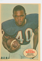 1968 Topps Football Posters 8 Gale Sayers Chicago Bears Excellent to Mint