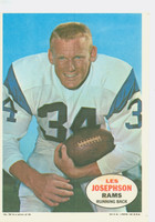 1968 Topps Football Posters 10 Les Josephson Los Angeles Rams Excellent to Mint