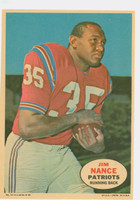1968 Topps Football Posters 11 Jim Nance Boston Patriots Excellent to Mint