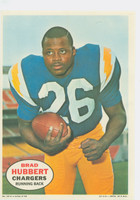 1968 Topps Football Posters 12 Brad Hubbert San Diego Chargers Excellent to Mint