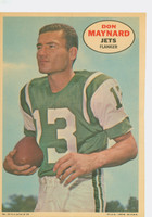 1968 Topps Football Posters 14 Don Maynard New York Jets Excellent to Mint