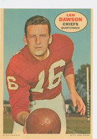 1968 Topps Football Posters 15 Len Dawson Kansas City Chiefs Excellent to Mint