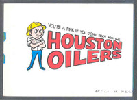 1967 Topps Football Comic Pennants 15 Houston Oilers NO PRINTING  Excellent