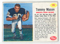 1962 Post Football 178 Tommy Mason Minnesota Vikings Excellent to Mint