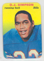 1970 Glossy Football 22 OJ Simpson Buffalo Bills Near-Mint