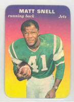1970 Glossy Football 30 Matt Snell New York Jets Near-Mint Plus