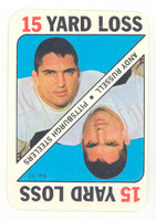 1971 Topps Football Game 12 Andy Russell Pittsburgh Steelers Excellent