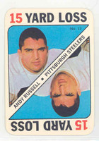 1971 Topps Football Game 12 Andy Russell Pittsburgh Steelers Near-Mint