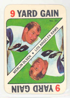 1971 Topps Football Game 27 Merlin Olsen Los Angeles Rams Near-Mint