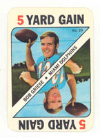 1971 Topps Football Game 29 Bob Griese Miami Dolphins Excellent to Mint