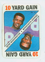 1971 Topps Football Game 32 Gene Washington Minnesota Vikings Very Good to Excellent