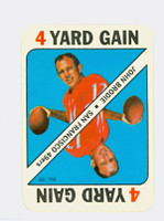 1971 Topps Football Game 49 John Brodie San Francisco 49ers Near-Mint to Mint