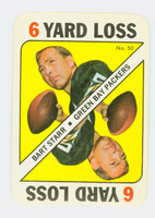1971 Topps Football Game 50 Bart Starr Green Bay Packers Near-Mint