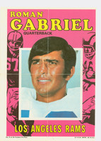 1971 Topps Football Pin-Ups 8 Roman Gabriel Los Angeles Rams Very Good to Excellent