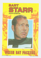 1971 Topps Football Pin-Ups 10 Bart Starr Green Bay Packers Excellent to Mint