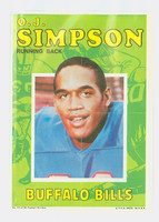 1971 Topps Football Pin-Ups 13 OJ Simpson Buffalo Bills Near-Mint
