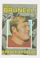 1971 Topps Football Pin-Ups 14 Sam Brunelli Boston Patriots Excellent to Mint