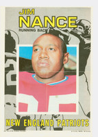 1971 Topps Football Pin-Ups 15 Jim Nance Boston Patriots Excellent to Mint