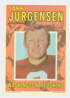 1971 Topps Football Pin-Ups 17 Sonny Jurgensen Washington Redskins Very Good to Excellent