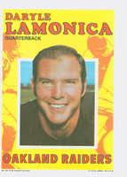 1971 Topps Football Pin-Ups 21 Daryle Lamonica Oakland Raiders Excellent to Mint
