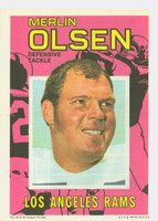 1971 Topps Football Pin-Ups 25 Merlin Olsen Los Angeles Rams Very Good to Excellent