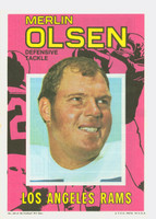 1971 Topps Football Pin-Ups 25 Merlin Olsen Los Angeles Rams Excellent to Mint
