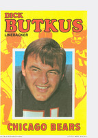 1971 Topps Football Pin-Ups 28 Dick Butkus Chicago Bears Excellent