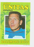 1971 Topps Football Pin-Ups 29 Johnny Unitas Baltimore Colts Very Good to Excellent