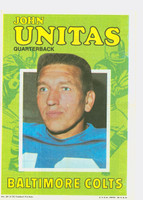 1971 Topps Football Pin-Ups 29 Johnny Unitas Baltimore Colts Excellent
