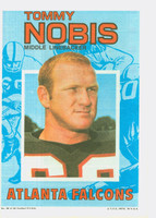 1971 Topps Football Pin-Ups 30 Tommy Nobis Atlanta Falcons Very Good to Excellent