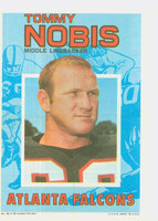 1971 Topps Football Pin-Ups 30 Tommy Nobis Atlanta Falcons Excellent