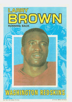 1971 Topps Football Pin-Ups 32 Larry Brown Washington Redskins Excellent to Mint