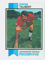 1973 Topps Football 19 Diron Talbert ROOKIE Washington Redskins Near-Mint