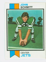 1973 Topps Football 24 John Schmitt New York Jets Excellent to Mint
