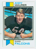 1973 Topps Football 36 Andy Maurer Atlanta Falcons Excellent to Mint