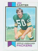 1973 Topps Football 55 Jim Carter Green Bay Packers Excellent