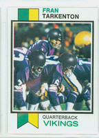 1973 Topps Football 60 Fran Tarkenton Minnesota Vikings Excellent