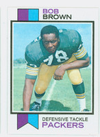 1973 Topps Football 82 Bob Brown Green Bay Packers Excellent to Mint