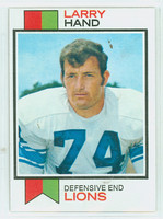 1973 Topps Football 93 Larry Hand Detroit Lions Near-Mint