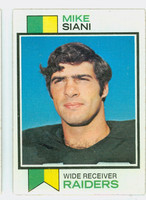 1973 Topps Football 101 Mike Siani ROOKIE Oakland Raiders Excellent