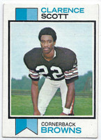 1973 Topps Football 103 Clarence Scott ROOKIE Cleveland Browns Excellent to Mint