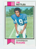 1973 Topps Football 116 Jim Nettles Los Angeles Rams Excellent